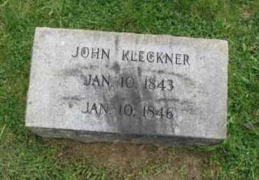 KLECKNER, JOHN - Lehigh County, Pennsylvania | JOHN KLECKNER - Pennsylvania Gravestone Photos