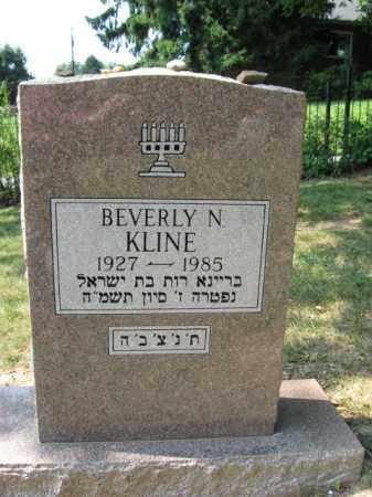 KLINE,, BEVERLY  N. - Lehigh County, Pennsylvania   BEVERLY  N. KLINE, - Pennsylvania Gravestone Photos
