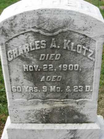 KLOTZ, CHARLES A. - Lehigh County, Pennsylvania | CHARLES A. KLOTZ - Pennsylvania Gravestone Photos