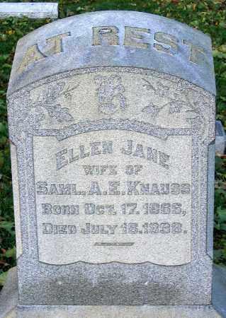 KNAUSS, ELLEN JANE - Lehigh County, Pennsylvania | ELLEN JANE KNAUSS - Pennsylvania Gravestone Photos