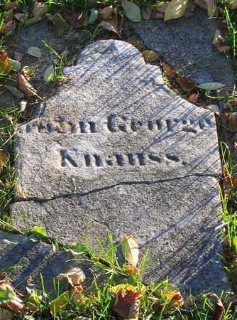 KNAUSS, JOHN GEORGE - Lehigh County, Pennsylvania | JOHN GEORGE KNAUSS - Pennsylvania Gravestone Photos
