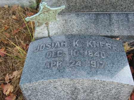 KNERR (CW), JOSIAH - Lehigh County, Pennsylvania | JOSIAH KNERR (CW) - Pennsylvania Gravestone Photos