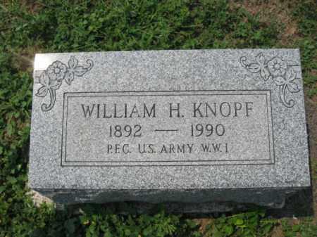 KNOPF, WILLIAM  H. - Lehigh County, Pennsylvania   WILLIAM  H. KNOPF - Pennsylvania Gravestone Photos