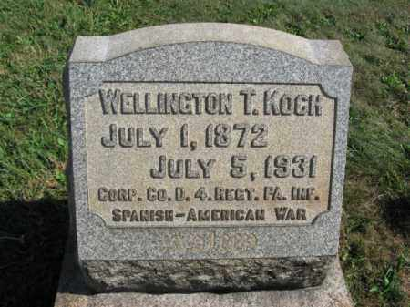 KOCH, WELLINGTON T. - Lehigh County, Pennsylvania | WELLINGTON T. KOCH - Pennsylvania Gravestone Photos