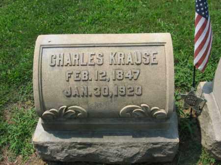 KRAUSE (CW), CHARLES - Lehigh County, Pennsylvania   CHARLES KRAUSE (CW) - Pennsylvania Gravestone Photos