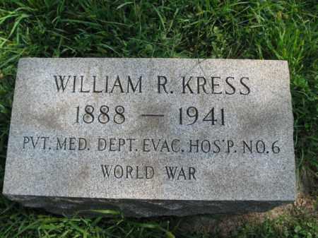 KRESS, WILLIAM  R. - Lehigh County, Pennsylvania | WILLIAM  R. KRESS - Pennsylvania Gravestone Photos