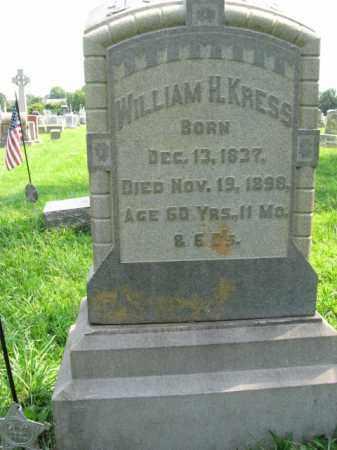 KRESS, WILLIAM H. - Lehigh County, Pennsylvania | WILLIAM H. KRESS - Pennsylvania Gravestone Photos