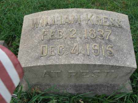 KRESS, WILLIAM - Lehigh County, Pennsylvania | WILLIAM KRESS - Pennsylvania Gravestone Photos