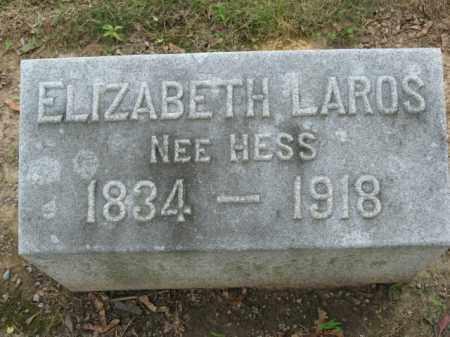 HESS LAROS, ELIZABETH - Lehigh County, Pennsylvania | ELIZABETH HESS LAROS - Pennsylvania Gravestone Photos