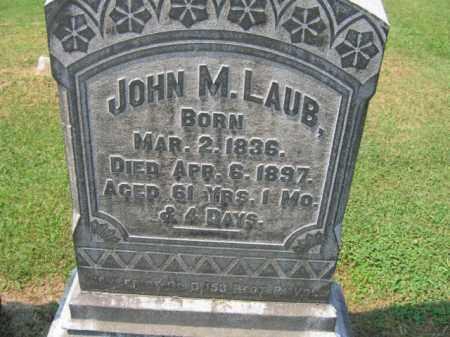 LAUB, JOHN   M. - Lehigh County, Pennsylvania   JOHN   M. LAUB - Pennsylvania Gravestone Photos
