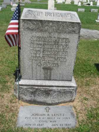 LENTZ (CW), JOSIAH R. (D) - Lehigh County, Pennsylvania   JOSIAH R. (D) LENTZ (CW) - Pennsylvania Gravestone Photos