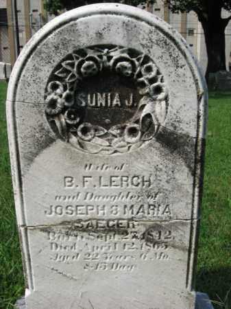 SAEGER LERCH, SUNIA J. - Lehigh County, Pennsylvania | SUNIA J. SAEGER LERCH - Pennsylvania Gravestone Photos