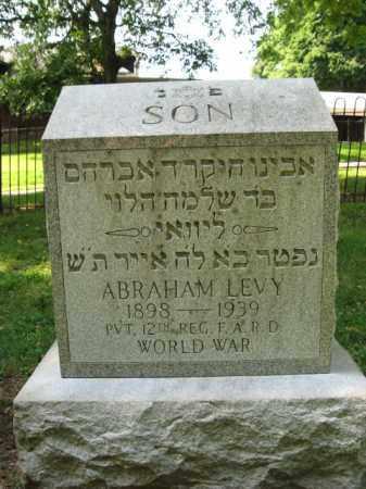LEVY, ABRAHAM - Lehigh County, Pennsylvania | ABRAHAM LEVY - Pennsylvania Gravestone Photos