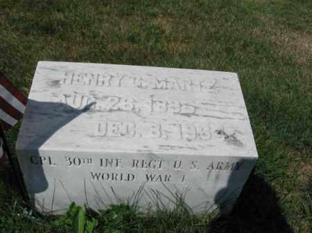 MARTZ ( WW I), HENRY G. - Lehigh County, Pennsylvania | HENRY G. MARTZ ( WW I) - Pennsylvania Gravestone Photos