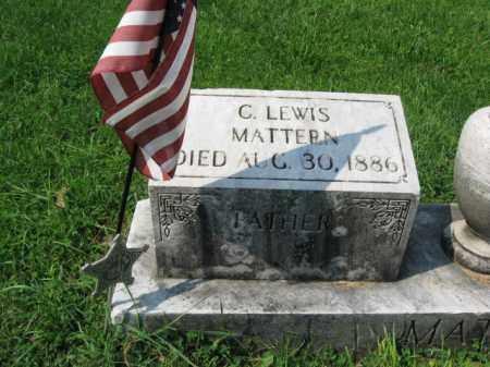 MATTERN, C. LEWIS - Lehigh County, Pennsylvania | C. LEWIS MATTERN - Pennsylvania Gravestone Photos