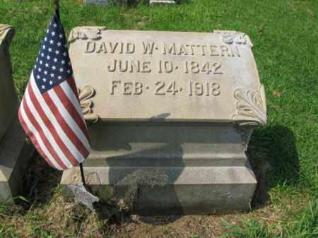MATTERN, DAVID W. - Lehigh County, Pennsylvania | DAVID W. MATTERN - Pennsylvania Gravestone Photos