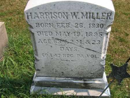 MILLER, HARRISON  W. - Lehigh County, Pennsylvania | HARRISON  W. MILLER - Pennsylvania Gravestone Photos