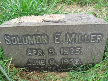 MILLER, SOLOMON E. - Lehigh County, Pennsylvania | SOLOMON E. MILLER - Pennsylvania Gravestone Photos