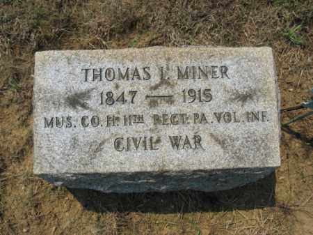 MINER (CW), THOMAS I - Lehigh County, Pennsylvania | THOMAS I MINER (CW) - Pennsylvania Gravestone Photos