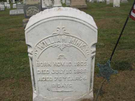 MINK, WILLIAM - Lehigh County, Pennsylvania | WILLIAM MINK - Pennsylvania Gravestone Photos