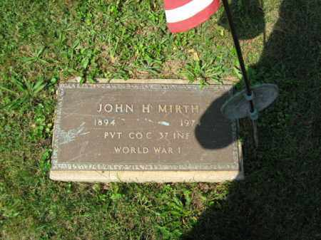 MIRTH, JOHN H. - Lehigh County, Pennsylvania | JOHN H. MIRTH - Pennsylvania Gravestone Photos