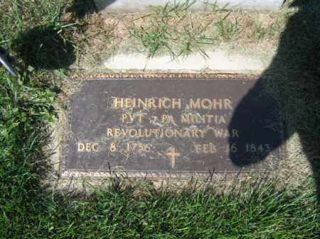 MOHR (RW), HEINRICH - Lehigh County, Pennsylvania | HEINRICH MOHR (RW) - Pennsylvania Gravestone Photos