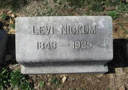 NICKUM, LEVI - Lehigh County, Pennsylvania | LEVI NICKUM - Pennsylvania Gravestone Photos
