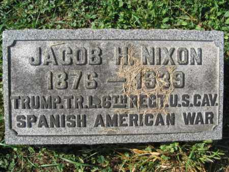 NIXON, JACOB H. - Lehigh County, Pennsylvania | JACOB H. NIXON - Pennsylvania Gravestone Photos