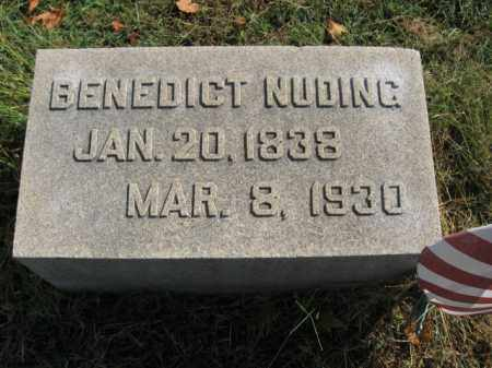 NUDING (CW), BENEDICT - Lehigh County, Pennsylvania | BENEDICT NUDING (CW) - Pennsylvania Gravestone Photos