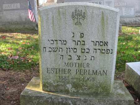 PERLMAN, ESTHER - Lehigh County, Pennsylvania | ESTHER PERLMAN - Pennsylvania Gravestone Photos