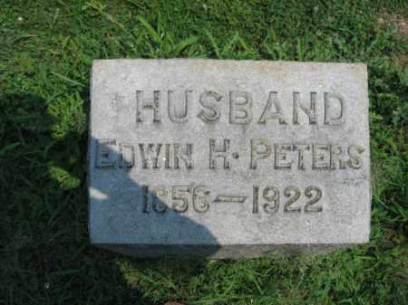 PETERS, EDWIN  H. - Lehigh County, Pennsylvania   EDWIN  H. PETERS - Pennsylvania Gravestone Photos