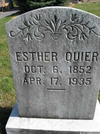 QUIER, ESTHER - Lehigh County, Pennsylvania | ESTHER QUIER - Pennsylvania Gravestone Photos
