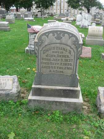 REBER, CHRISTIANA - Lehigh County, Pennsylvania | CHRISTIANA REBER - Pennsylvania Gravestone Photos