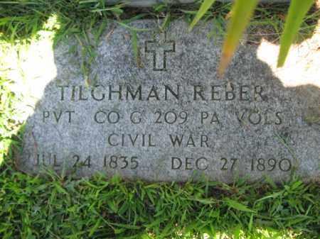 REBER (CW), PVT.TILGHMAN - Lehigh County, Pennsylvania | PVT.TILGHMAN REBER (CW) - Pennsylvania Gravestone Photos