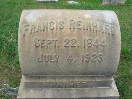 REINHARD, FRANCIS - Lehigh County, Pennsylvania | FRANCIS REINHARD - Pennsylvania Gravestone Photos