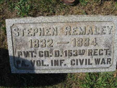 REMALEY (CW), STEPHEN - Lehigh County, Pennsylvania | STEPHEN REMALEY (CW) - Pennsylvania Gravestone Photos