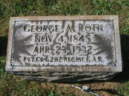 ROTH (CW), GEORGE A. - Lehigh County, Pennsylvania | GEORGE A. ROTH (CW) - Pennsylvania Gravestone Photos