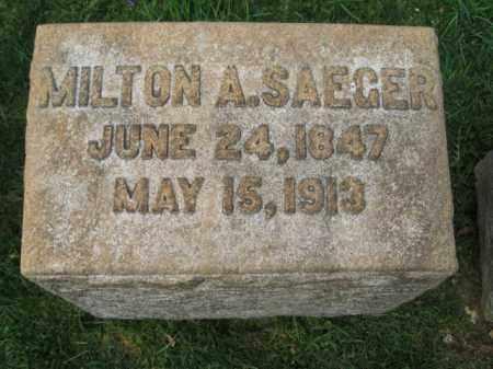 SAEGER (CW), MILTON A. - Lehigh County, Pennsylvania   MILTON A. SAEGER (CW) - Pennsylvania Gravestone Photos