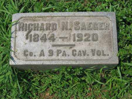 SAEGER, RICHARD N. - Lehigh County, Pennsylvania | RICHARD N. SAEGER - Pennsylvania Gravestone Photos