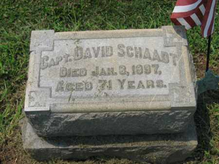 SCHAADT (CW), CAPTAIN DAVID - Lehigh County, Pennsylvania | CAPTAIN DAVID SCHAADT (CW) - Pennsylvania Gravestone Photos