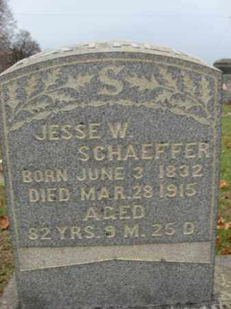 SCHAEFER, JESSE W. - Lehigh County, Pennsylvania | JESSE W. SCHAEFER - Pennsylvania Gravestone Photos