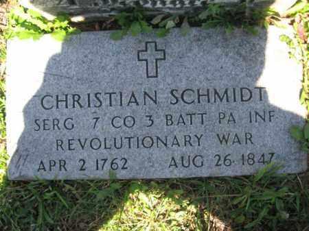 SCHMIDT, SERG.CHRISTIAN - Lehigh County, Pennsylvania | SERG.CHRISTIAN SCHMIDT - Pennsylvania Gravestone Photos