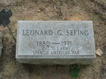 SEFING, LEONARD G. - Lehigh County, Pennsylvania   LEONARD G. SEFING - Pennsylvania Gravestone Photos