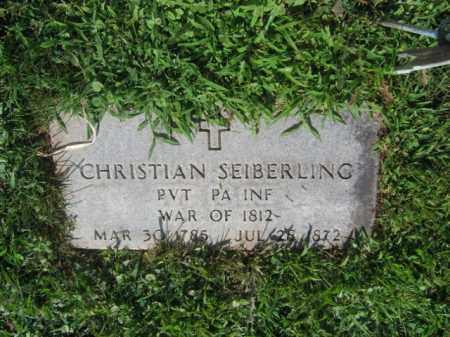SEIBERLING, CHRISTIAN - Lehigh County, Pennsylvania   CHRISTIAN SEIBERLING - Pennsylvania Gravestone Photos