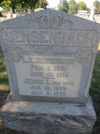 SENSENBACH (CW), LAFAYETTE E. - Lehigh County, Pennsylvania   LAFAYETTE E. SENSENBACH (CW) - Pennsylvania Gravestone Photos