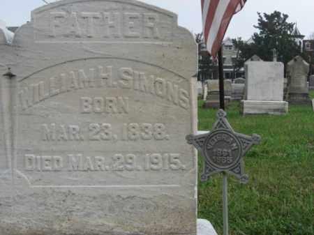 SIMONS, WILLIAM H. - Lehigh County, Pennsylvania   WILLIAM H. SIMONS - Pennsylvania Gravestone Photos