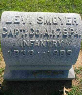 SMOYER (CW), LEVI - Lehigh County, Pennsylvania | LEVI SMOYER (CW) - Pennsylvania Gravestone Photos