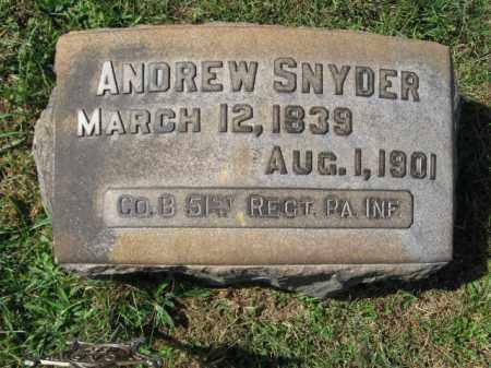 SNYDER (CW), ANDREW - Lehigh County, Pennsylvania | ANDREW SNYDER (CW) - Pennsylvania Gravestone Photos