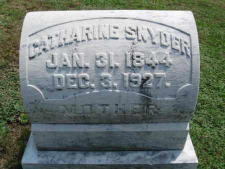 SNYDER, CATHERINE - Lehigh County, Pennsylvania | CATHERINE SNYDER - Pennsylvania Gravestone Photos