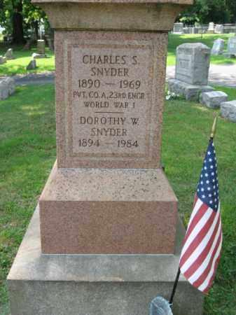 SNYDER, CHARLES S. - Lehigh County, Pennsylvania | CHARLES S. SNYDER - Pennsylvania Gravestone Photos